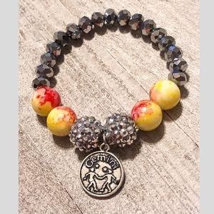 Jewelry - Gemini Zodiac Beaded Charm Bracelet